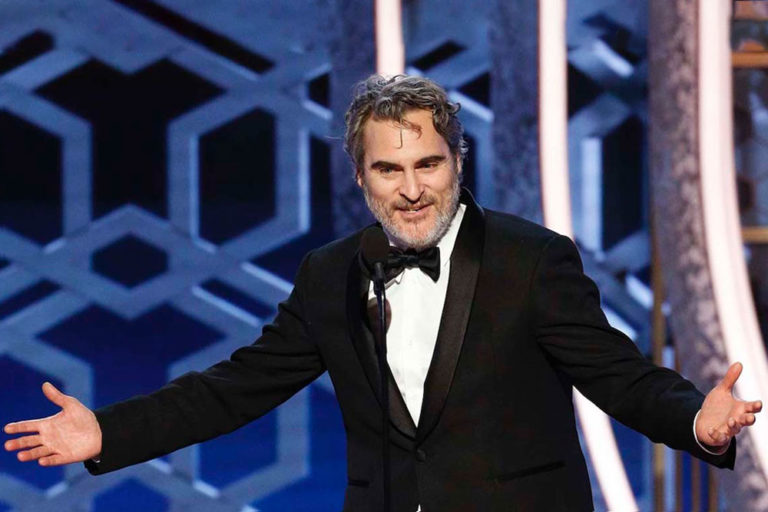 Joaquin Phoenix Promised to Keep Rewearing This Stella Mccartney Suit in a Bid to Reduce Waste