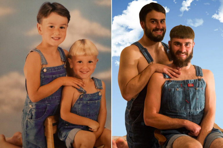 Old Family Photos That Have Been Hilariously Recreated by the Kids Now That They're All Grown Up