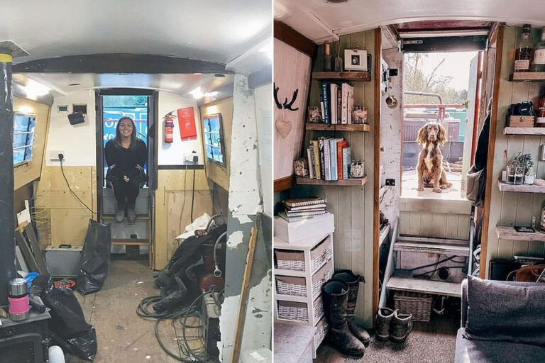 This Couple Were Sick of Rising House Prices, so They Renovated a House Boat Instead
